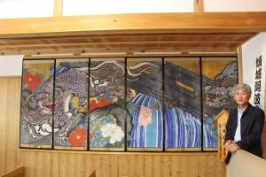 農村歌舞伎で使われていた舞台装置