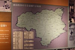 徳島県内阿波踊り分布図